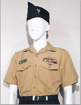 US Navy Enlisted - Tan Working Uniform