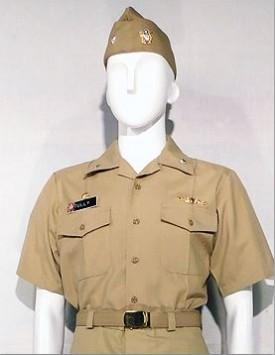 US Navy Officer - Tan Working Uniform