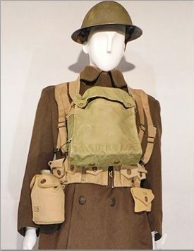 WWI American Enlisted (1918) Fighting Order with Greatcoat