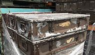 Aluminum 105mm Crates - Brown