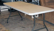 Plastic Table - 6ft. Folding (Typical)